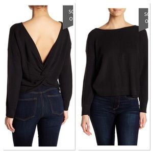 Absolutely Cotton Knot Back Sweater open back knit